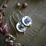 OLIVE BRANCH • sterling silver earring with labradorite - Art In Motion Jewelry & Metal Studio