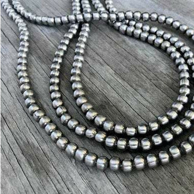 Sterling Silver Navajo Pearl Necklace - Art In Motion Jewelry & Metal Studio