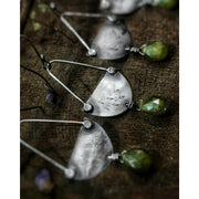 AWAKEN -  Sterling Silver & Green Tourmaline Earrings - Art In Motion Jewelry & Metal Studio