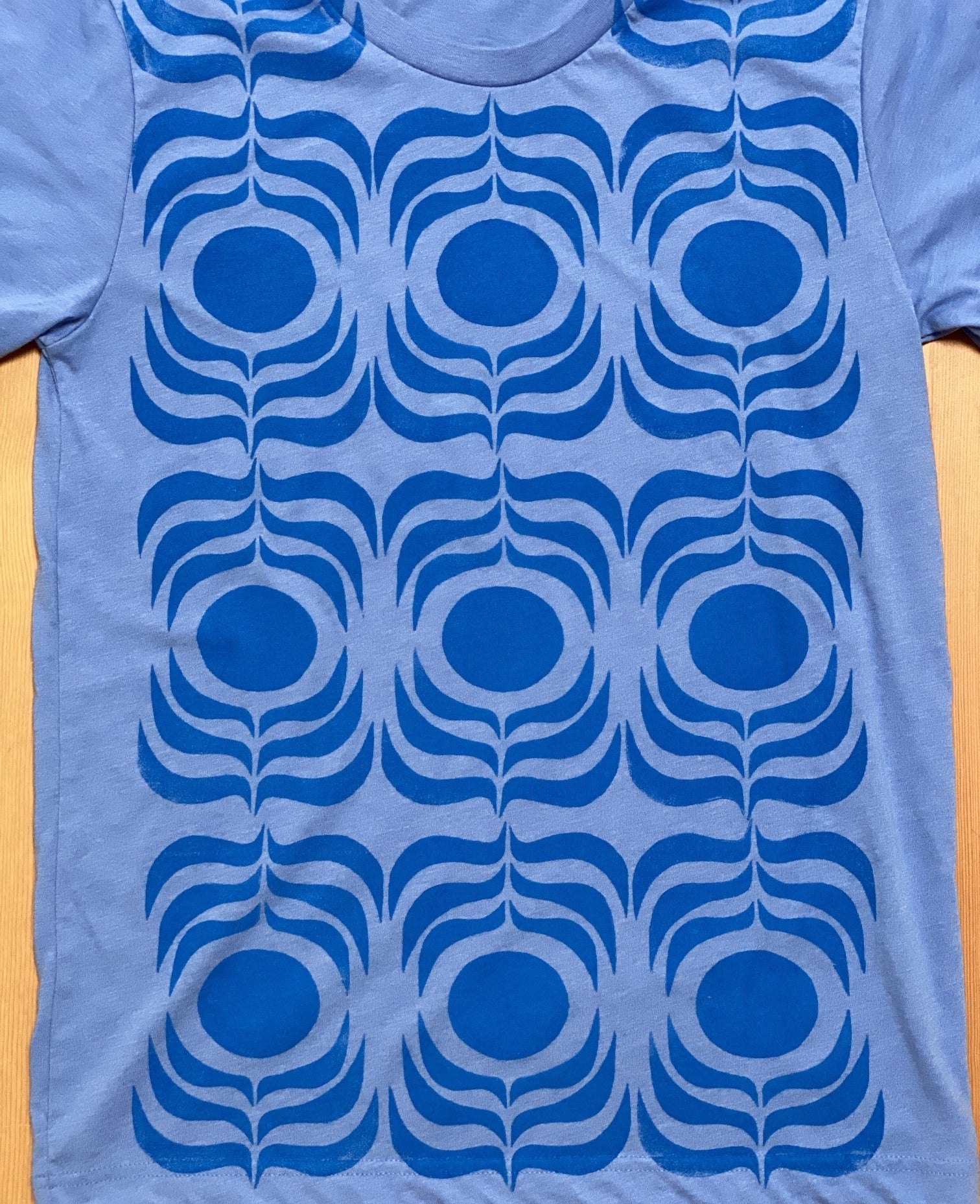 blue/blue ink t-shirt  (adult size S)