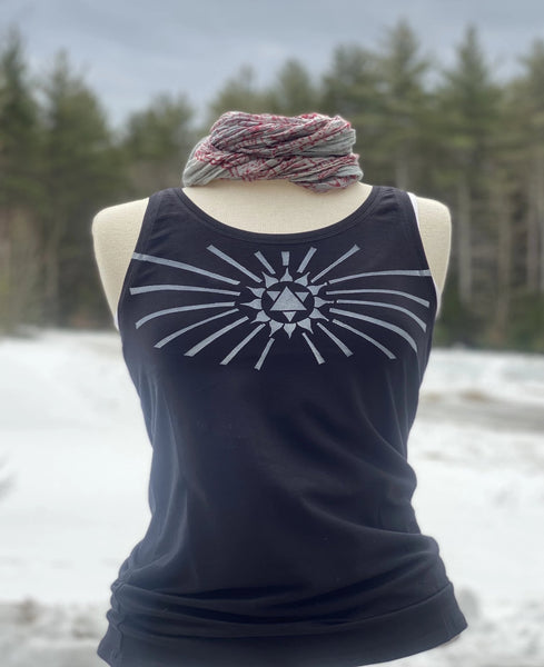 Heart Chakra Tank - Organic Cotton (Black)