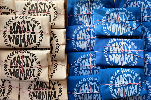 Tote Bag - (Blue) Nasty Woman