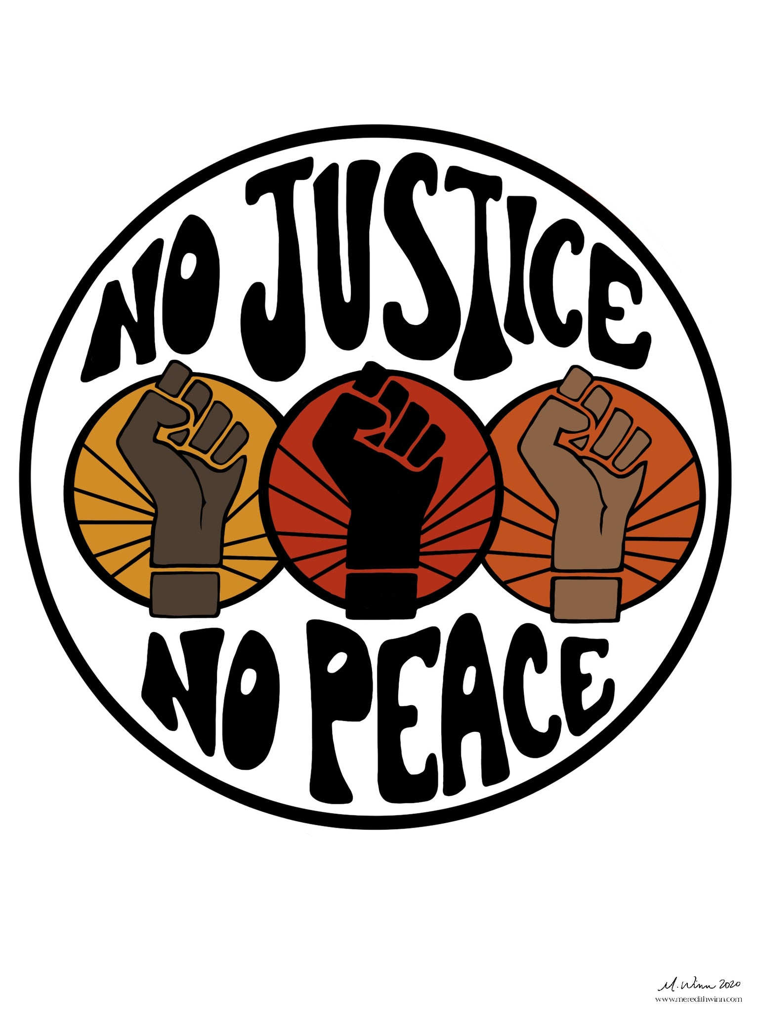 No Justice No Peace - FREE downloadable art
