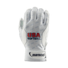 Marucci USA Softball White Batting Gloves - Evolution Baseball Company