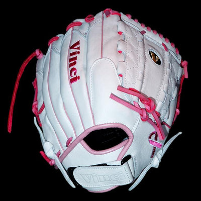 Vinci Limited Series RCV125 White/Pink 12.5 Inch Fielders Glove - Evolution Baseball Company