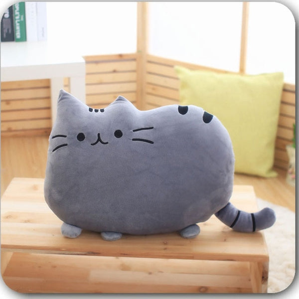 Cat Plush Throw Pillow