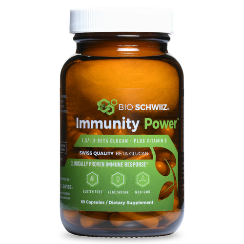 Immunity Power Beta Glucan β-1,3 & β-1,6 Chain Linkages + Vitamin D