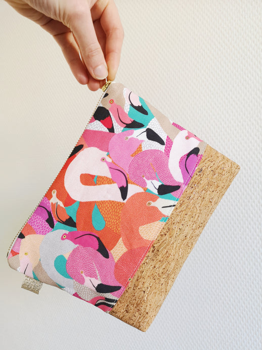 Pochette M Flamand rose