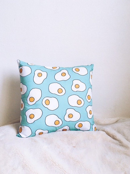 Coussin Oeuf au plat