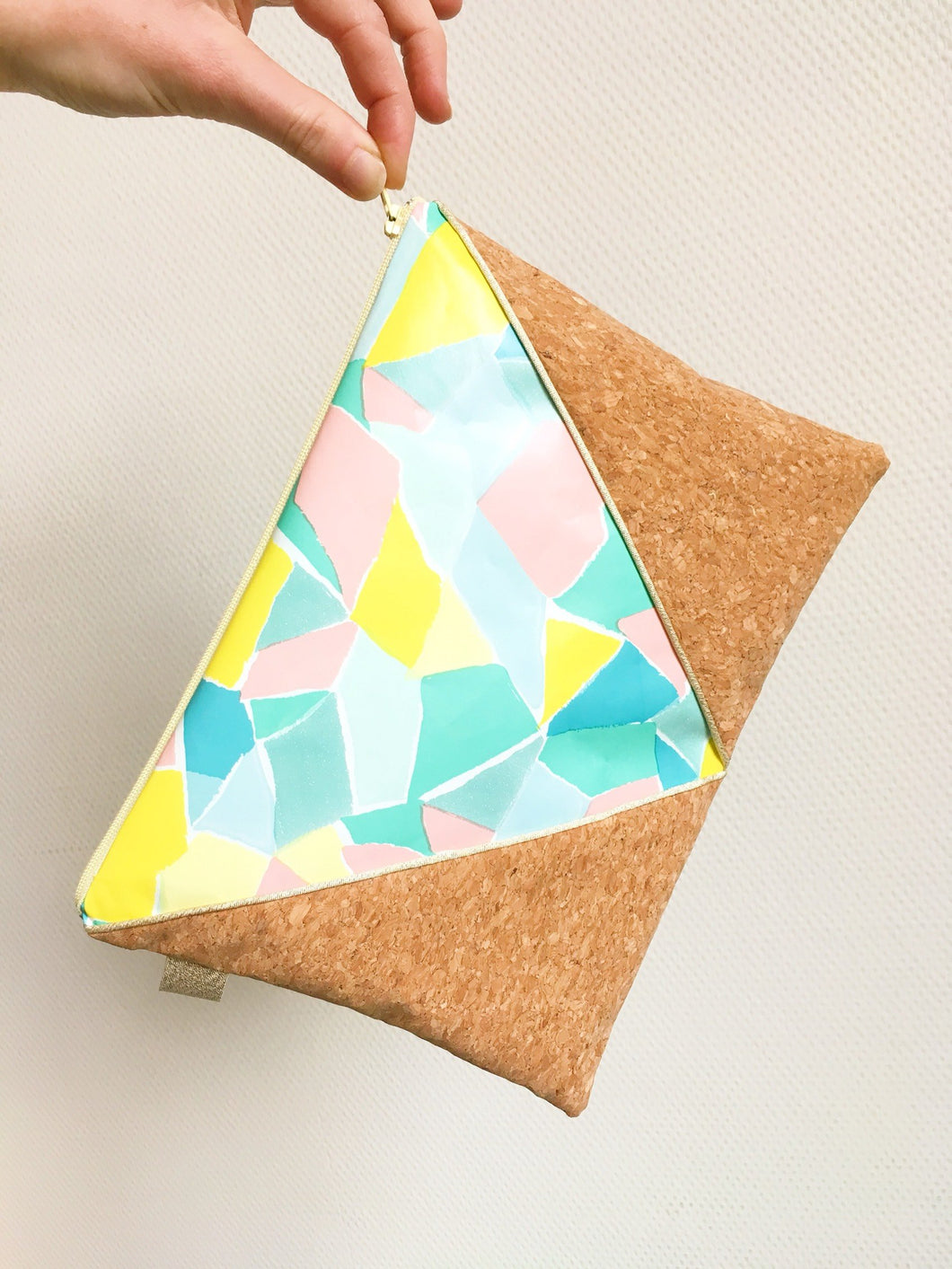 Pochette XL Triangle - couleurs pastel