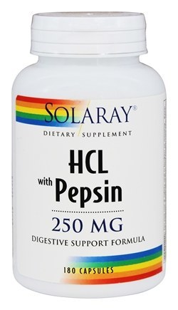 Solaray HCL with Pepsin 250 mg