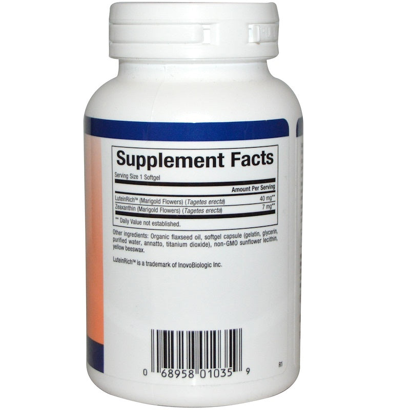 Natural Factors Lutein 40 mg