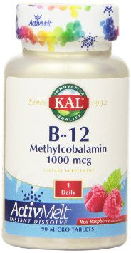 Kal B-12 Methylcobalamin Active Melt Raspberry