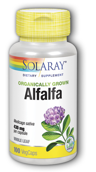 Solaray Organically Grown Alfalfa