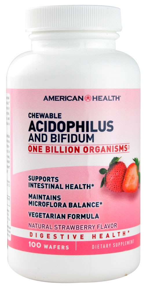 American Health Acidophilus & Bifidum Chewable