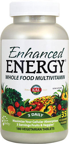 Kal Enhanced Energy Whole Food Multi-Vitamin