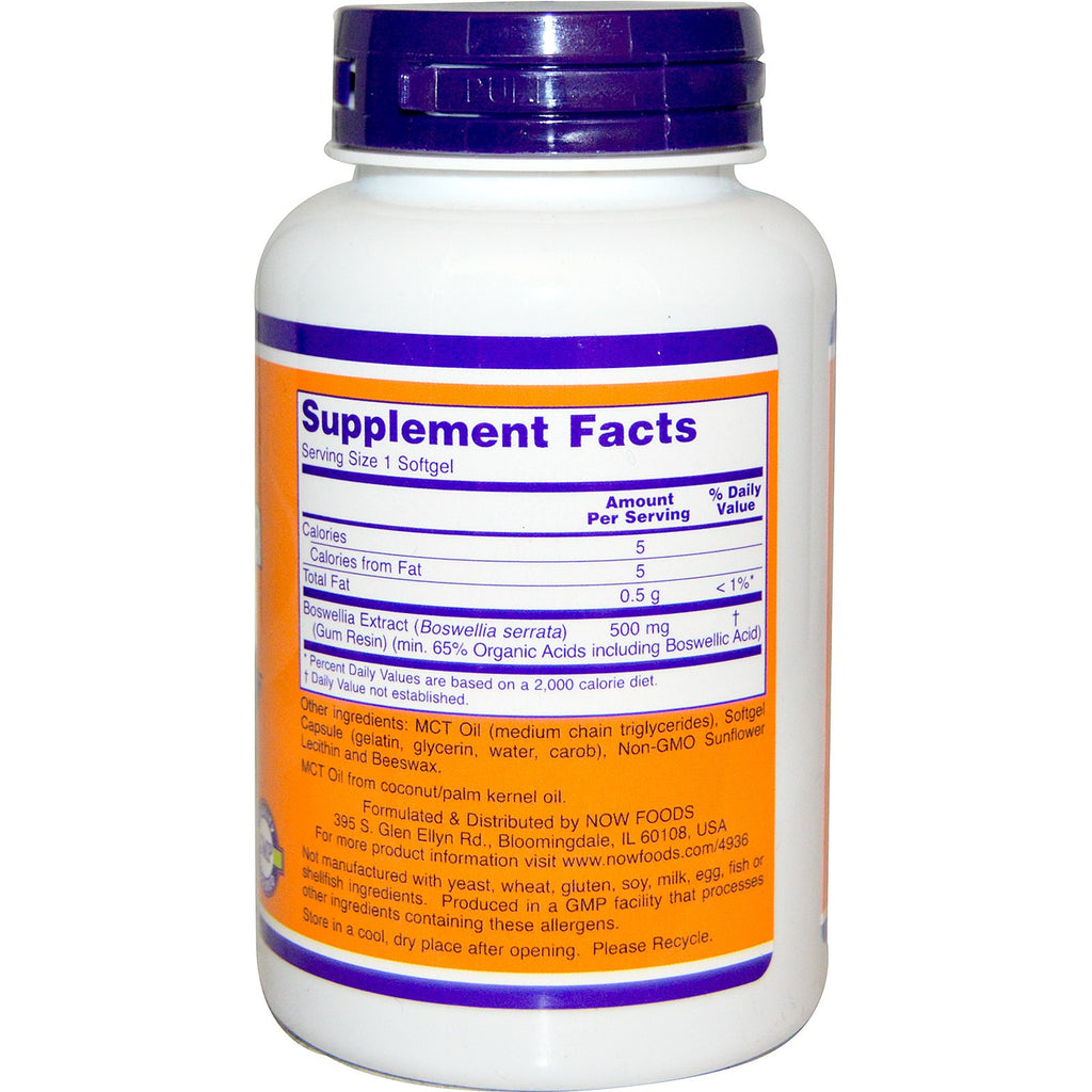 NOW Boswellia extract 250 mg
