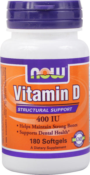 Now Foods Vitamin D-3 400 IU