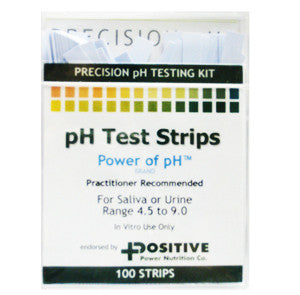 Positive Power pH Test Strips