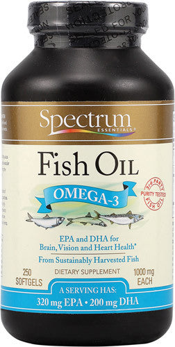Spectrum Essentials Fish Oil Omega-3  1000 mg - 250 Softgels