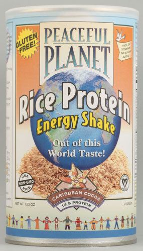 VegLife Peaceful Planet® Rice Protein Energy Shake Caribbean Cocoa 13.2 oz