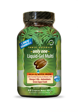 Irwin Naturals Only One Liquid-Gel Multi™ with Iron