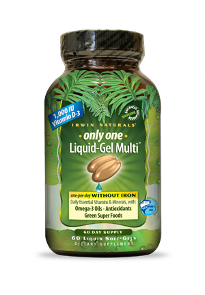 Irwin Naturals Only One Liquid-Gel Multi™ without Iron