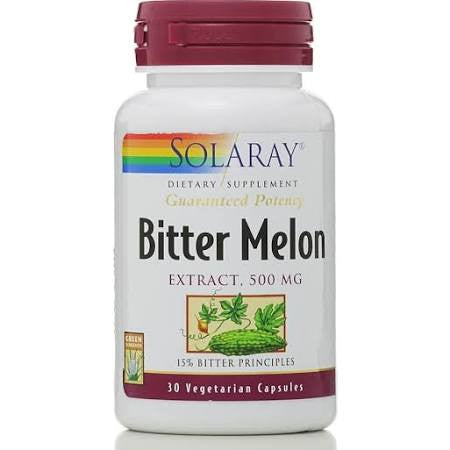 Solaray Guaranteed Potency Bitter Melon 500 MG, 30 Cap