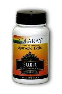 Solaray Ayurvedic Herbs Bacopa 100 mg 60 count