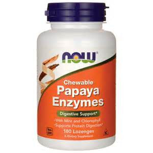 Now Foods Papaya Enzyme Chewable  Lozenges