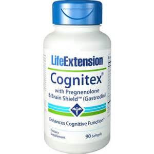 Life Extension Cognitex with Pregnenolone & Brain Shield