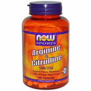 Now Sports Arginine & Citrulline 500/250mg