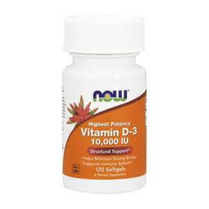 Now Foods Vitamin D-3 10,000 UI