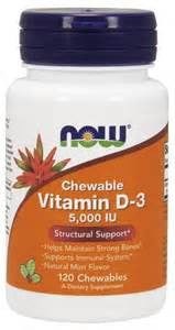 Now Vitamin D-3 Chewable