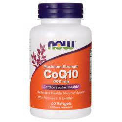 Now Foods CoQ10 600 mg - 60 Softgels