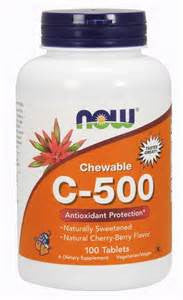 Now C-500 Chewable 100 tablet ORANGE FLAVOR