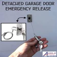 Detached Garage Door Emergency Release for Power Outage