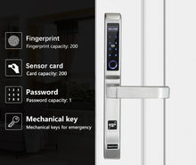 Load image into Gallery viewer, Slim Line Stainless Steel Aluminum Fingerprint lock