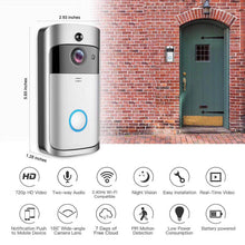 Load image into Gallery viewer, Video Wireless Doorbell with Recording, Night Vision & Intercom