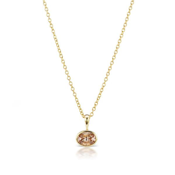 The Morganite Amber Necklace