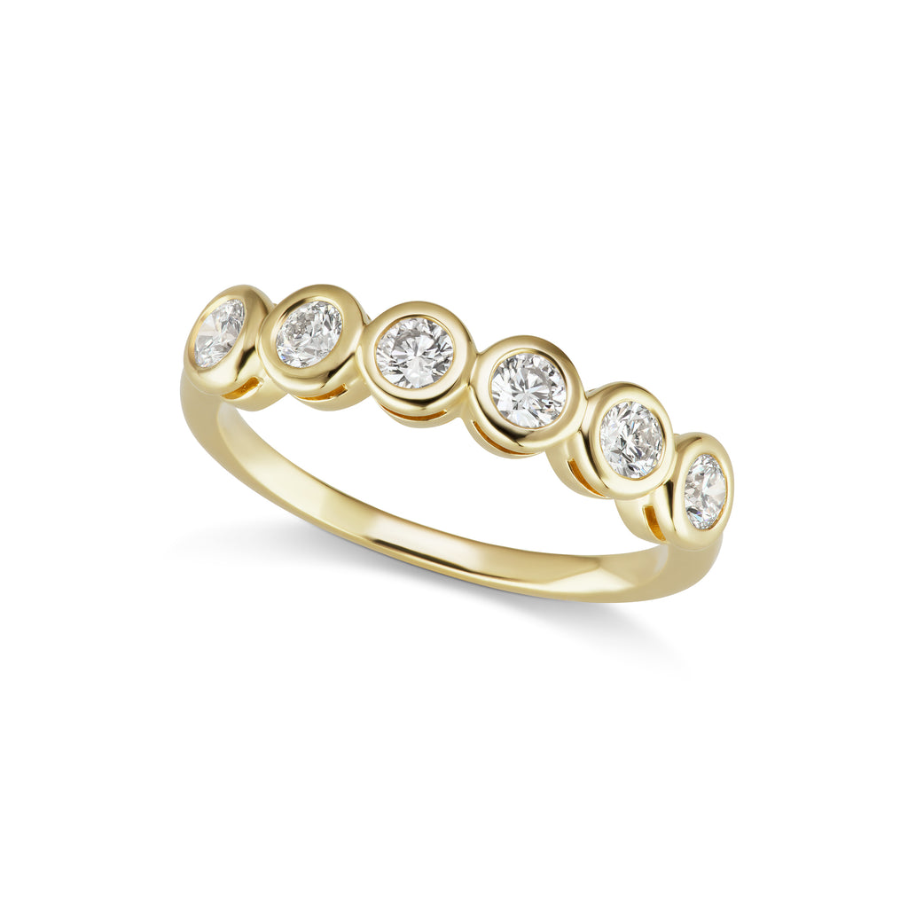 The Gold Six Diamond Confetti Ring