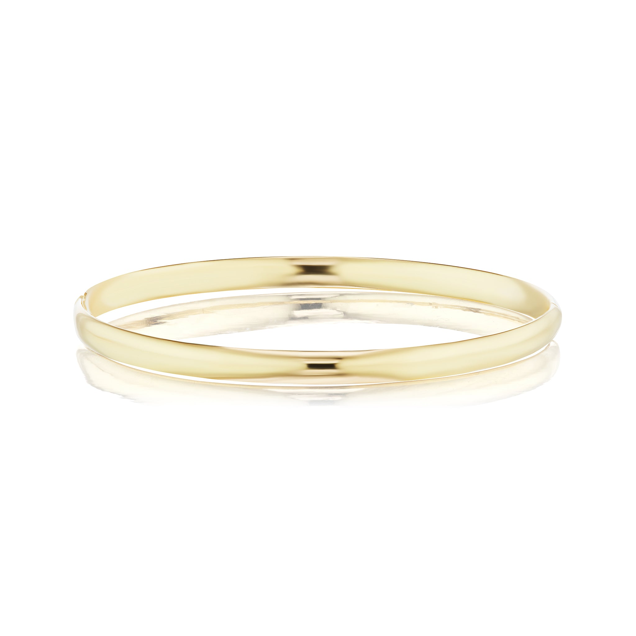 The Gold Slim Hollow Hinged Bangle