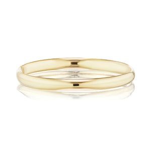 The Gold Hollow Hinged Bangle
