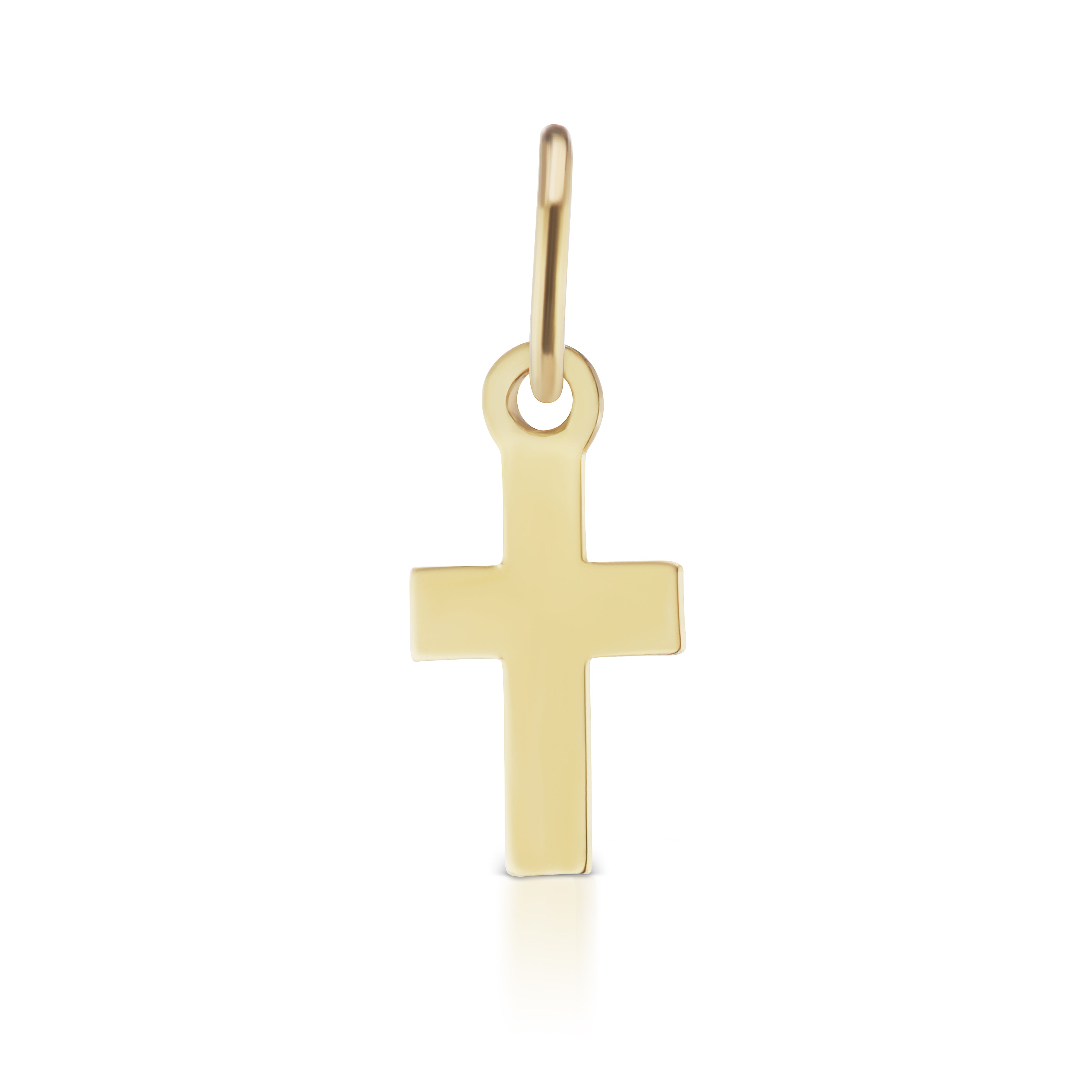 The Gold Petite Cross Charm