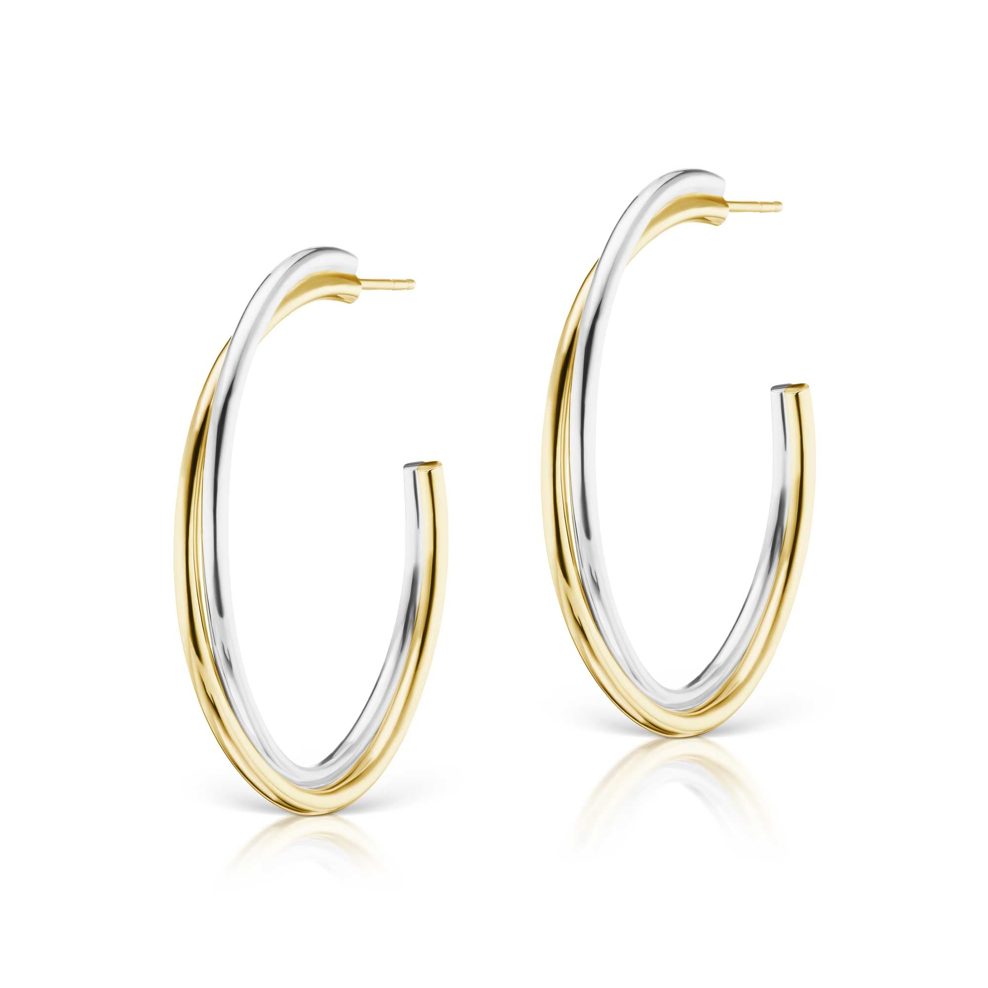 The Mixed Metal Layered Statement Hoop
