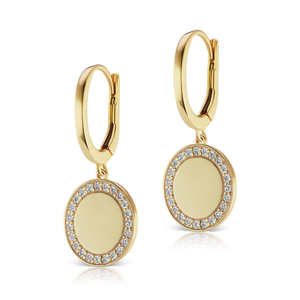 The Gold Signature Pave Earring