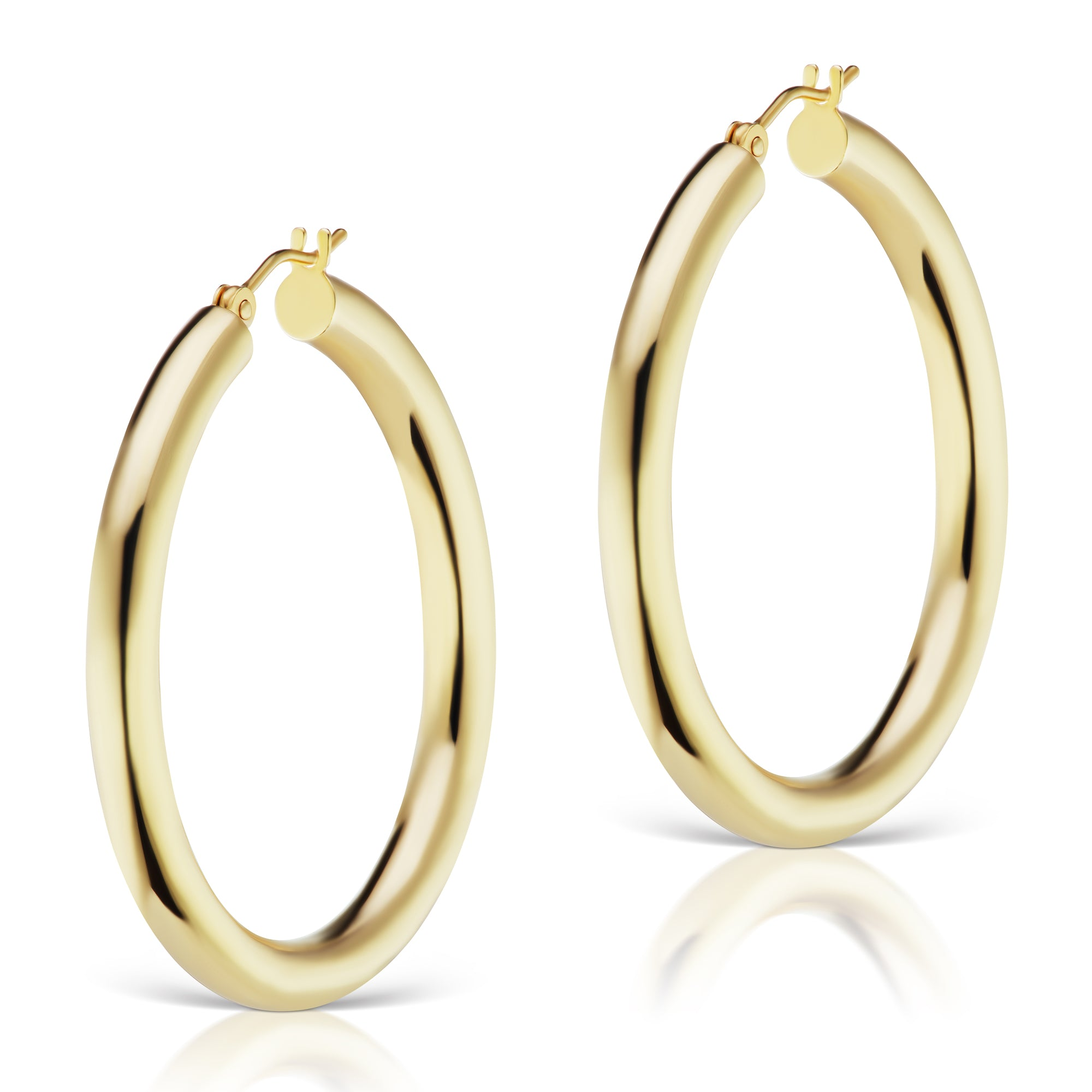 The Gold Heather Hollow Hoops