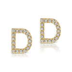 The Gold Diamond Initial Earring (Single)