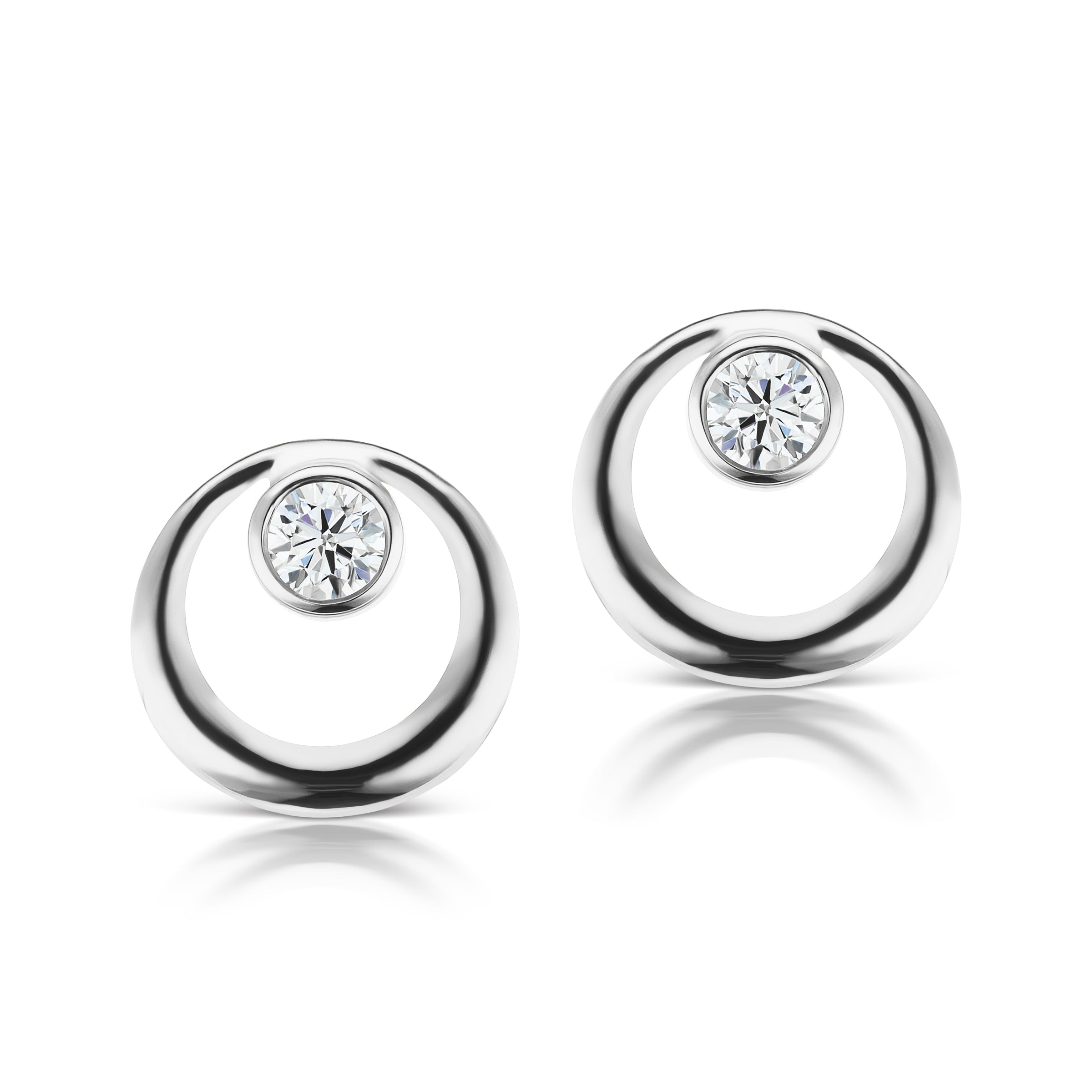 The Silver Everyday Diamond Earring