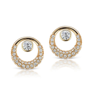 The Gold Pave Everyday Diamond Earring